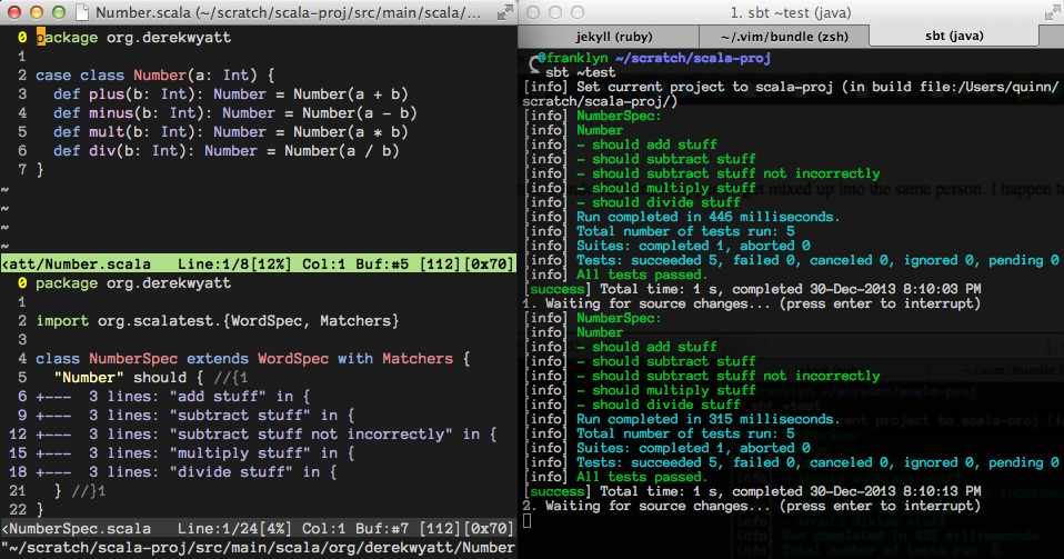 MacVim and iTerm side-by-side